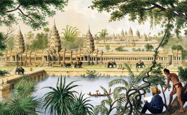 el-imperio-jemer-en-camboya-pintura