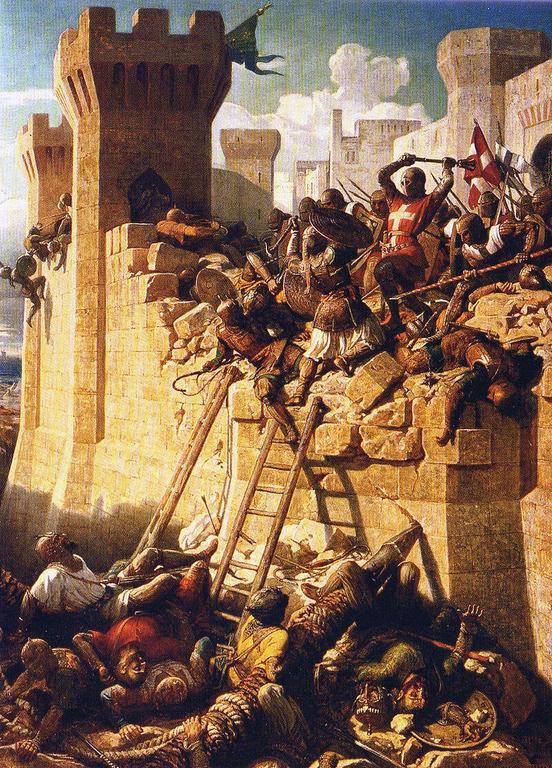 las-cruzadas-la-batalla-de-acre-asedio