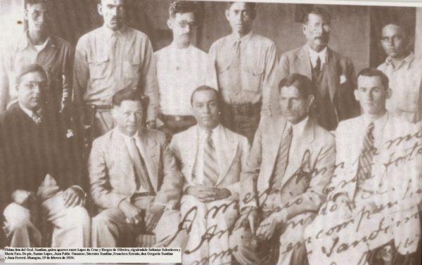 Esta fue la última fotografía del General Sandino antes del asesinato. Fue captada el 20 de febrero de 1934.
