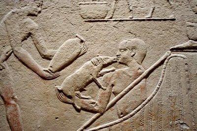 Relieve donde se puede ver la importancia del Cerdo Egipcio en la cocina