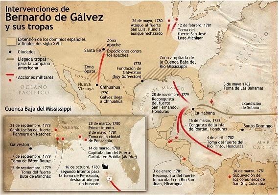 D. Bernardo de Gálvez y Madrid, vizconde de Galveston y conde de Gálvez, es proclamado póstumamente como ciudadano honorífico de los Estados Unidos