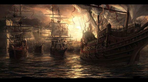 Batalla en el canal de la Mancha. Armada invencible