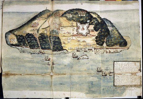 Planta de la isla de la tortuga 1645