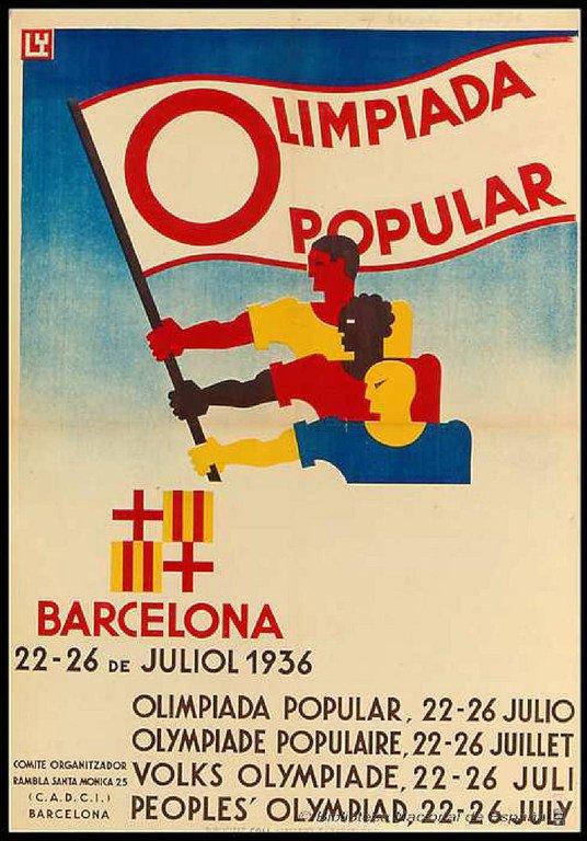 Cartel Olimpiadas Populares Barcelona