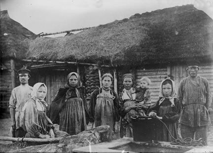 En el siglo XIX la mayoría de la población rusa estaba formada por campesinos, y dentro de estos la mayoría eran siervos.