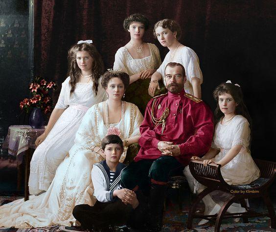 La familia Real Rusa al Completo