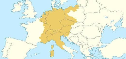 Sacro imperio romano germánico mapa