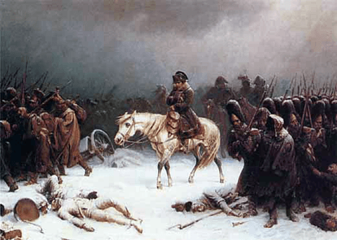 Napoleón en Rusia, por Adolph Northen. Via: Wikimedia Commons