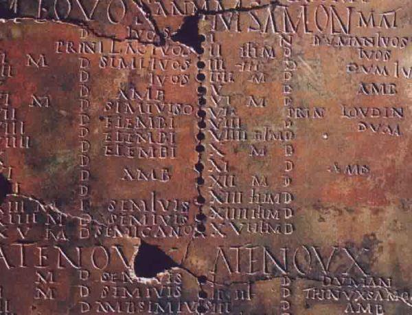 numeros romanos tallados