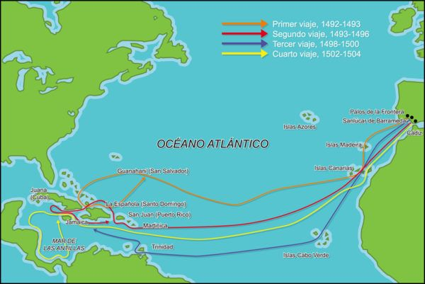 america-latina-la-formacion-de-los-estados-nacionale-mapa-descubrimiento-Viajes-Colon