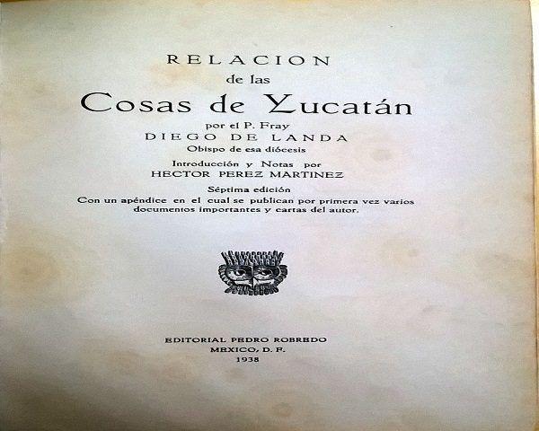Portada Relación Yucatán