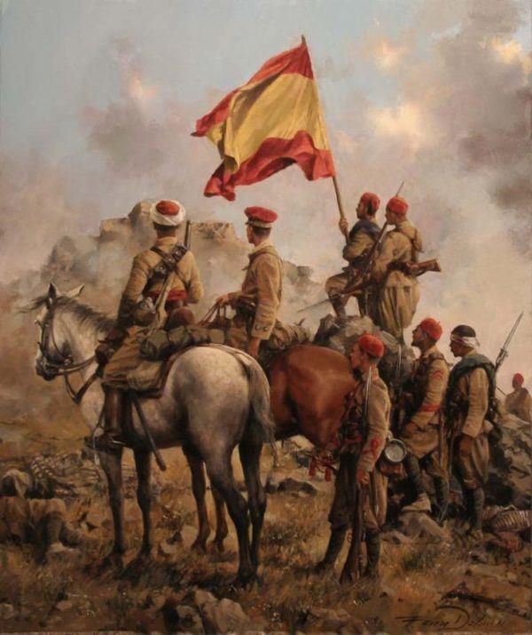 Regulares en el Monte Gurugu, Melilla