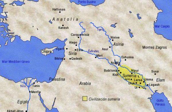 las-civilizaciones-antiguas-mapa-sumerios