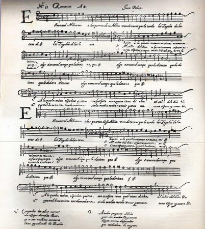 el-siglo-de-oro-español-partitura-romance-espanol