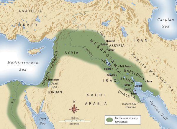 la-ciencia-en-mesopotamia-mapa-mesopotamia