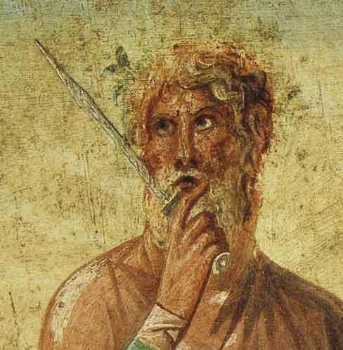 Calcas fue un poderoso adivino y profeta de la mitología griega, uno de los más célebres. Actuó como augur en la guerra de Troya.