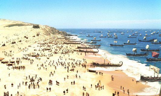 Desembarco en las playas de Troya