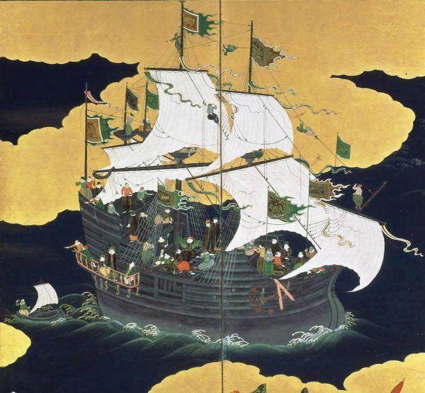 Las carracas eran navíos de vela redonda de alto bordo especializados en el transporte de grandes cargas en travesías largas