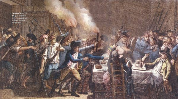 Detención de Luis XVI, cuando intentaba huir