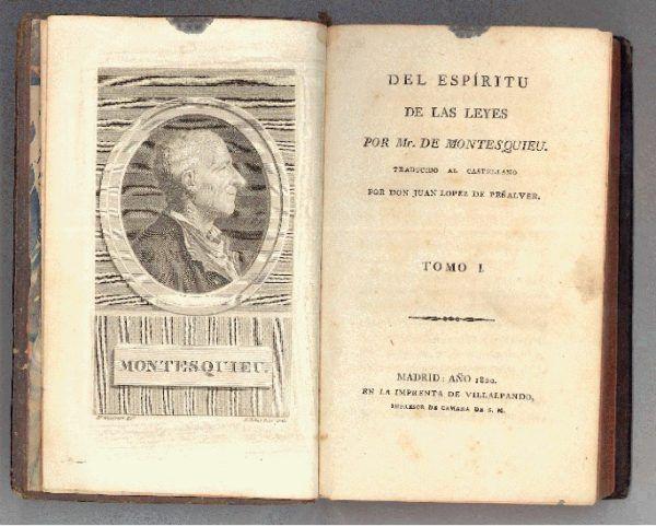 """""""El espíritu de las leyes"""" de Montesquieu"""