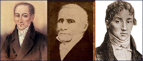 Primer Triunvirato: Juan José Paso, Feliciano Chiclana y Manuel de Sarratea