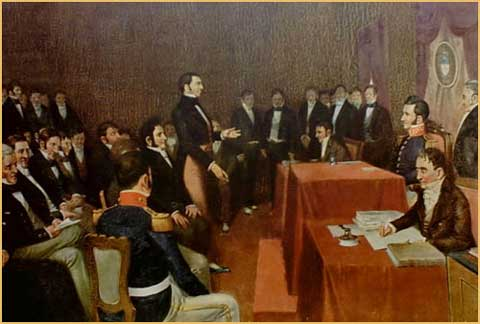En otro orden de cosas, la Asamblea – que se proponía organizar un nuevo Estado y sentar las bases de una nueva nación, distinta de la española