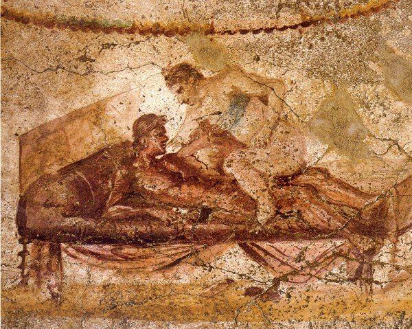 Il·lustració del burdel de Pompeia.
