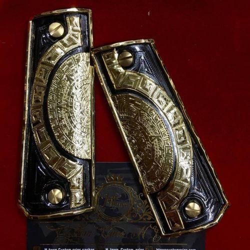 Arqueología pieza de calendario maya