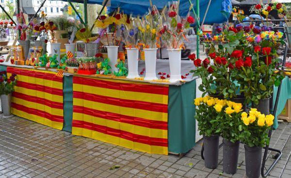 Tiendas de flores en Cataluña día de Sant Jordi