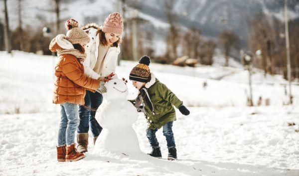 Cuando es semana blanca ninos en la nieve