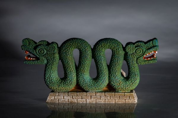 Serpiente doble azteca