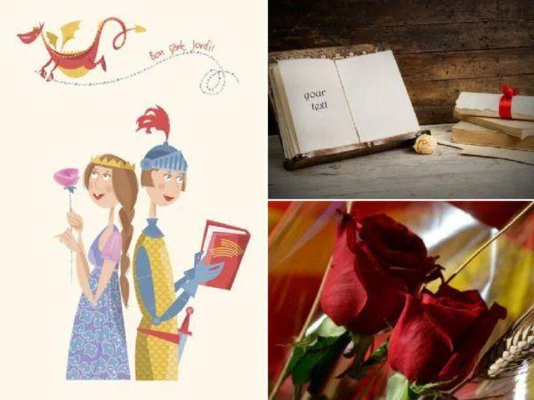 Día de Sant Jordi libro y rosa