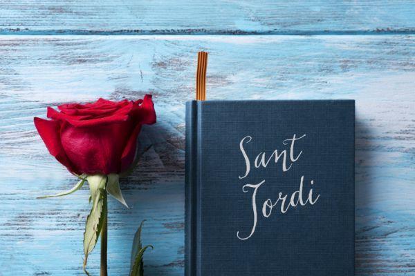 Libro y flor sant jordi