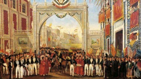 Consumación de la Independencia de México, pintura