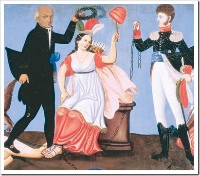 Hidalgo y Allende coronan la patria