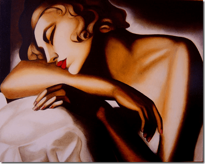 dama durmiendo