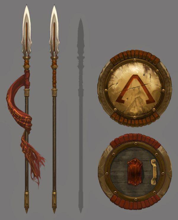 Armas Persas y Espartanas
