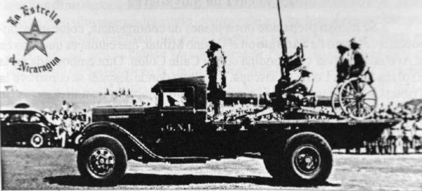 El camión Ford de la Guardia Nacional en que Sandino, Estrada y Umanzor fueron llevados al campo donde fueron asesinados.