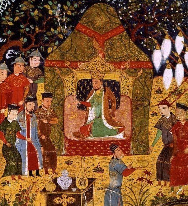 Coronación de Gengis Kan