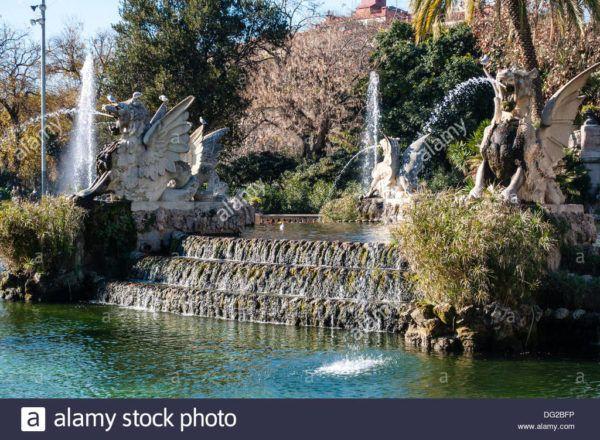 Cascada del Parque de la Ciudadela diseñado por Josep Fontseré y Antoni Gaudí, Barcelona Catalunya