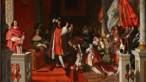 Felipe V impone el Toisón de oro al Duque de Berwick