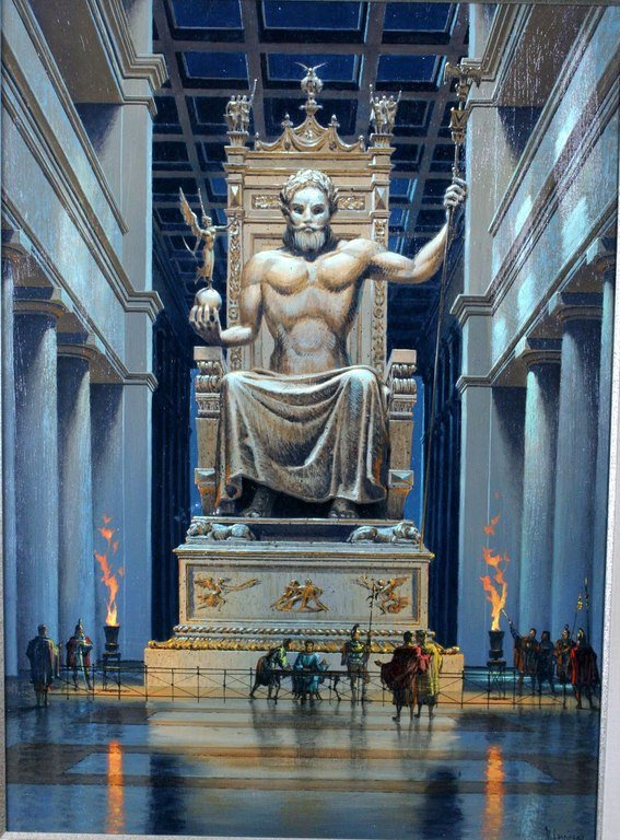 Estatua de Zeus en el Monte Olimpo
