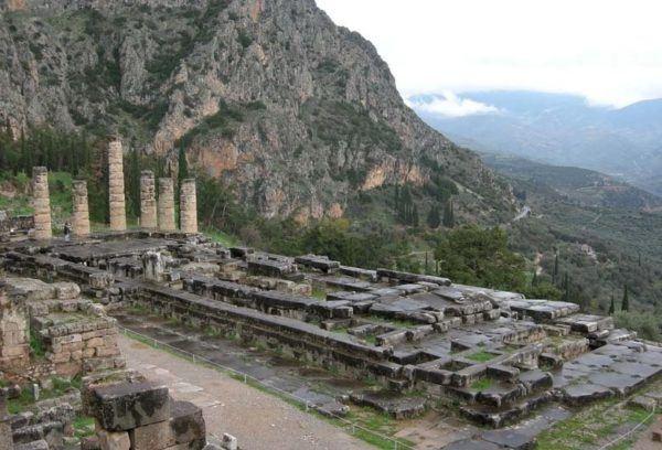 Restos arqueológicos de Delfos