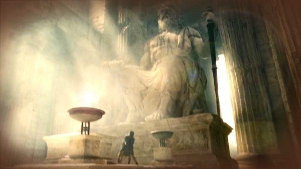 Ubicada en el interior del templo dedicado al propio Zeus en Olimpia, Grecia, desapareció entre 393, año en que el emperador Teodosio el Grande prohibió