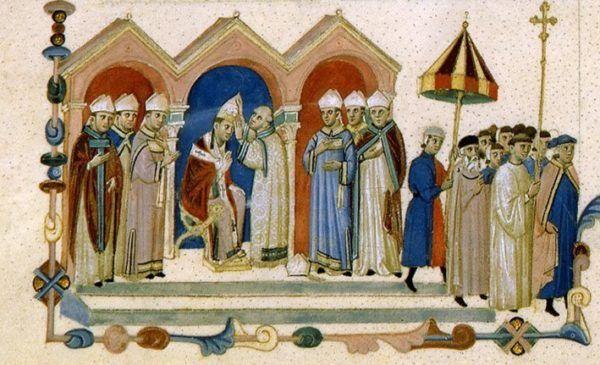 Proclamación de Bonifacio VIII
