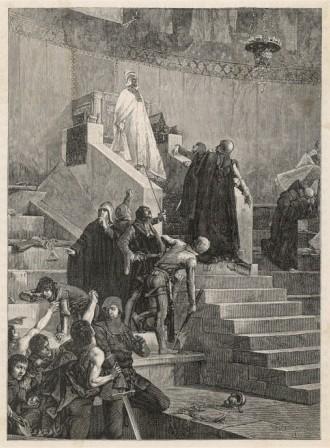 Momento en el que es apresado el Papa Bonifacio VIII