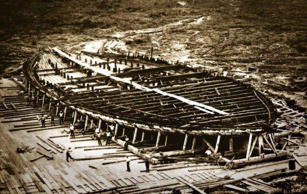 Restos de los Navios que Calígula empleaba en sus Juegos