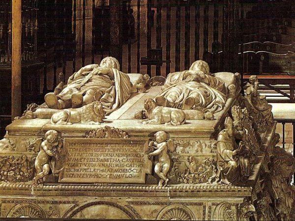 Sepulcro de los Reyes Católicos, Fernando e Isabel, en la Capilla real de Granada