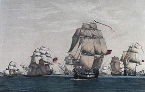 El que iba a ser decisivo convoy inglés de 63 buques y que por su dimensión iba a determinar a favor de Inglaterra el curso de la guerra con las 13 Colonias, capturado por la Armada española
