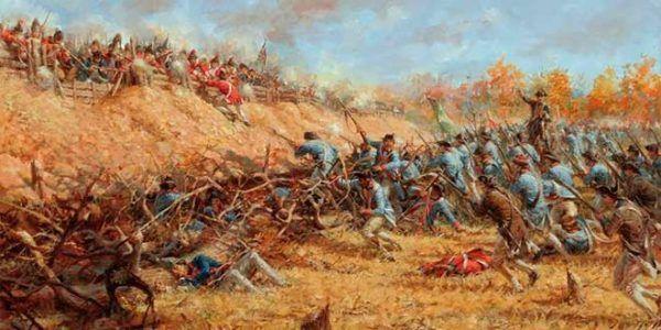 Batalla de Saratoga, todo el equipamiento y material militar fue suministrado por España